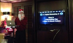 iMovie class on Christmas Day at sea